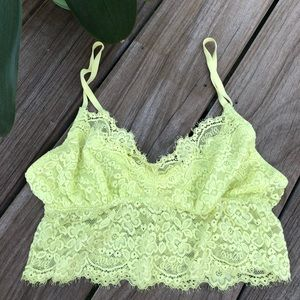 Aerie Bright Green Lacey Bralette